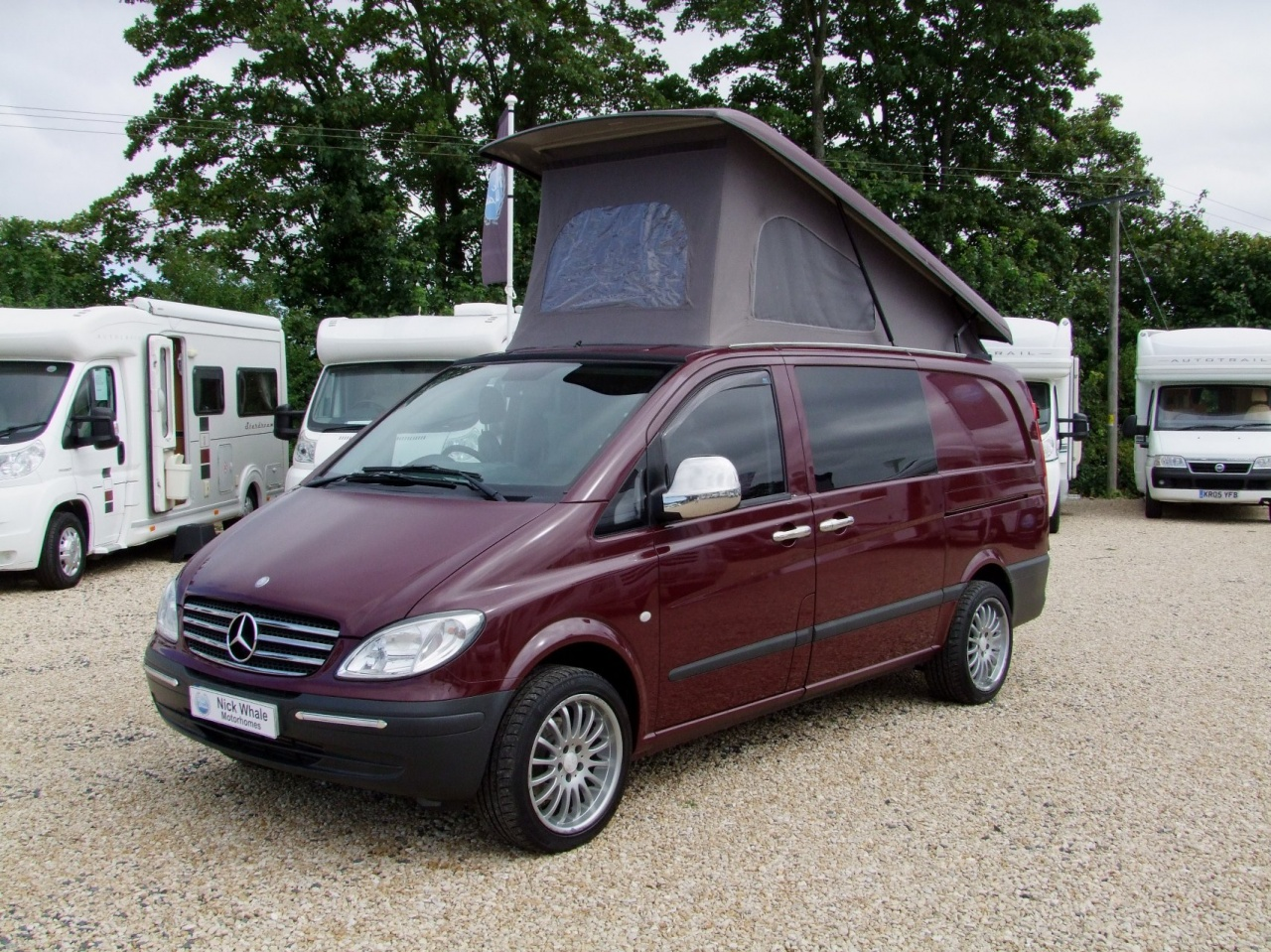 camper conversion based upon mercedes vito 111 cdi nick whale sports cars. Black Bedroom Furniture Sets. Home Design Ideas